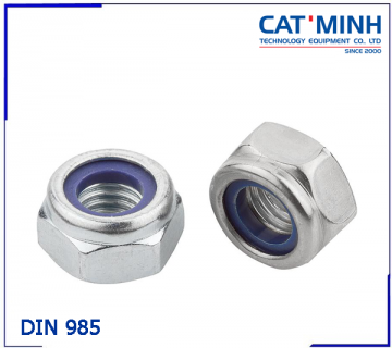 Stainless Steel Nyloc Nut DIN 985